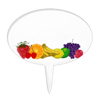 Colorful Fruits: Cake Topper