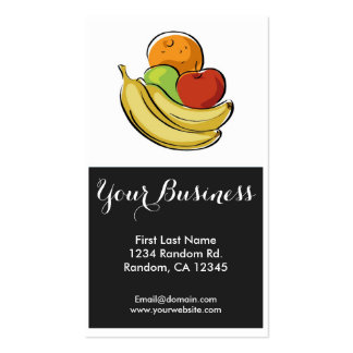 Colorful fruits customizable food business cards