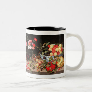 Colorful Fruits & Flowers by Peter Binoit Two-Tone Coffee Mug