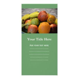 colorful fruits image print. apple, pear, orange.. card
