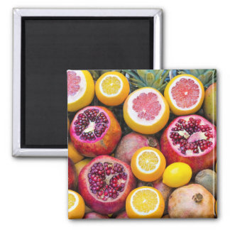 Colorful fruits magnet