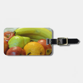 Colorful fruits tray, Orange, apple, pear, Tag For Bags
