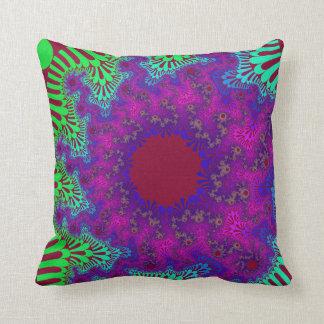 Colorful Fruity Sunburst Throw Pillow
