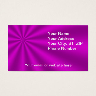 Colorful Fuchsia Starburst Business Cards