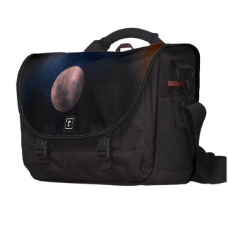 Colorful Full Lunar Moon Rainbow Sky Laptop Commuter Bag
