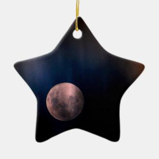 Colorful Full Lunar Moon Rainbow Sky Ornament