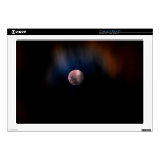 Colorful Full Lunar Moon Rainbow Sky Decals For Laptops