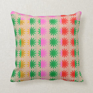 Colorful Full of Life Patterns Throw Pillow