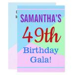"[ Thumbnail: Colorful, Fun ""49th Birthday Gala!"" Invitation ]"