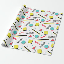 Colorful Fun 90s Pattern Wrapping Paper
