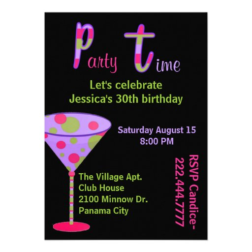 adult toy party invitation