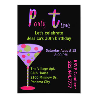 Whimsical Adult Birthday Invitations & Announcements | Zazzle