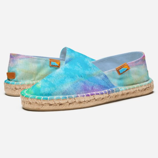 Colorful Fun Blue Purple Green Cool Abstract Art Espadrilles