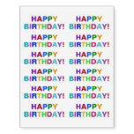 "[ Thumbnail: Colorful, Fun, Bold ""Happy Birthday!"" Temporary Tattoos ]"