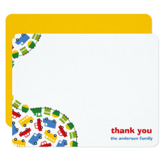 Colorful Fun Boy's Toys Baby Boy Thank You Card