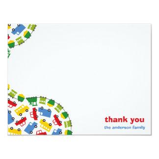 Colorful Fun Boy's Toys Baby Boy Thank You Card