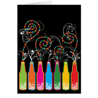 Colorful Fun Bubbly Celebrations Birthday Card Note Card