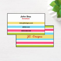 Colorful Fun business cards