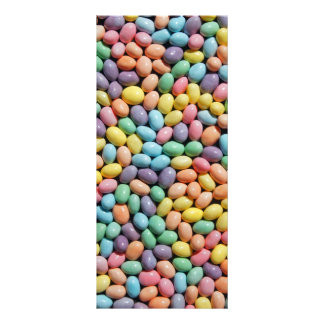 Colorful fun candy coated mini eggs bookmark rack card