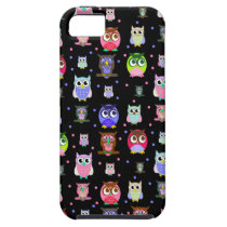 Colorful Fun Cartoon Owl iPhone 5 Case