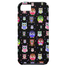 Colorful Fun Cartoon Owl iPhone 5 Case iPhone 5 Case