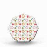 Colorful Fun Circles and Polka Dots Pattern Acrylic Award
