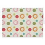 Colorful Fun Circles and Polka Dots Pattern Greeting Cards