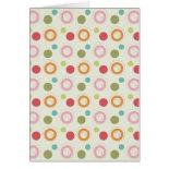 Colorful Fun Circles and Polka Dots Pattern Cards