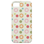 Colorful Fun Circles and Polka Dots Pattern iPhone 5 Covers