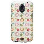 Colorful Fun Circles and Polka Dots Pattern Samsung Galaxy Nexus Cases