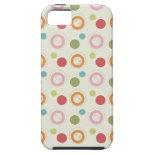 Colorful Fun Circles and Polka Dots Pattern iPhone 5 Case
