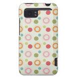 Colorful Fun Circles and Polka Dots Pattern HTC Vivid Case