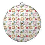 Colorful Fun Circles and Polka Dots Pattern Dart Board