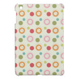 Colorful Fun Circles and Polka Dots Pattern Case For The iPad Mini