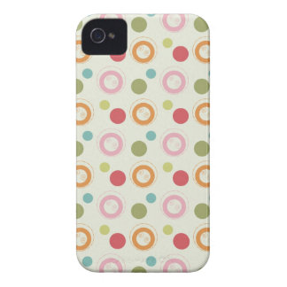 Colorful Fun Circles and  Polka Dots Pattern iPhone 4 Case-Mate Case