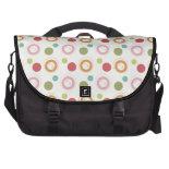 Colorful Fun Circles and Polka Dots Pattern Laptop Bags