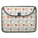 Colorful Fun Circles and Polka Dots Pattern Sleeves For MacBook Pro