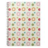 Colorful Fun Circles and Polka Dots Pattern Note Book