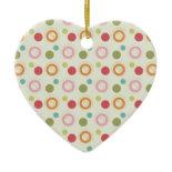 Colorful Fun Circles and Polka Dots Pattern Ornaments