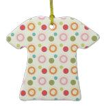 Colorful Fun Circles and Polka Dots Pattern Christmas Ornament