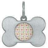 Colorful Fun Circles and Polka Dots Pattern Pet Name Tag