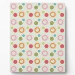 Colorful Fun Circles and Polka Dots Pattern Photo Plaques