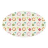 Colorful Fun Circles and Polka Dots Pattern Stickers