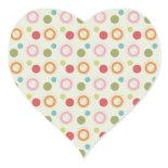 Colorful Fun Circles and Polka Dots Pattern Sticker