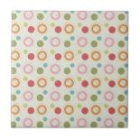 Colorful Fun Circles and Polka Dots Pattern Tiles