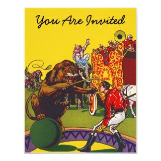 """COLORFUL FUN CIRCUS PARTY THEME INVITE INVITATION 4.25"""" X 5.5"""" INVITATION CARD"""