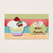 colorful fun cupcake business Cards