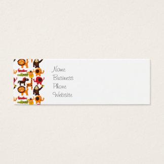 Colorful Fun Cute Jungle Village Safari Zoo Animal Mini Business Card