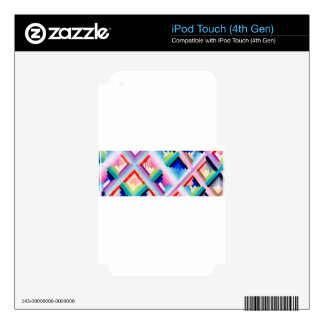 COLORFUL FUN DESIGN iPod TOUCH 4G DECALS