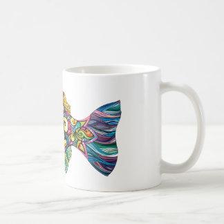Colorful fun fish coffee mug